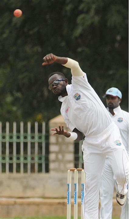 No Miller of West Indies A team player in action, during the unofficial 1st Test Match between India A and West Indies A last day, West Indies a team won by 162 runs at Gangothri Glades Cricket Ground