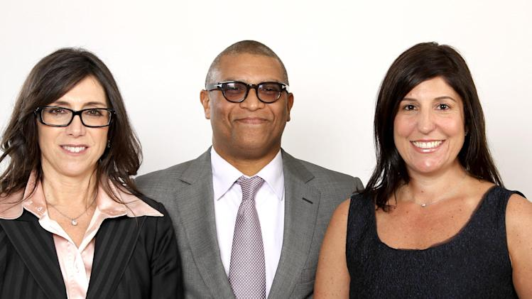 "FILE - This Feb. 4, 2013 file photos shows Oscar nominated producers Stacey Sher, left, Reginald Hudlin, center, and Pilar Savone at the 2013 Oscar Nominee Luncheon in Los Angeles. The three are nominated for the film, ""Django Unchained."" (Photo by Matt Sayles/Invision/AP, file)"