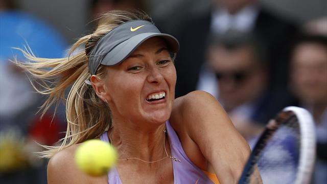 Tennis - Sharapova rallies past Halep to win Madrid title