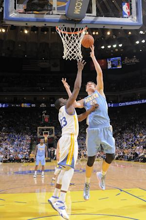Faried's shot lifts Nuggets over Warriors 100-99