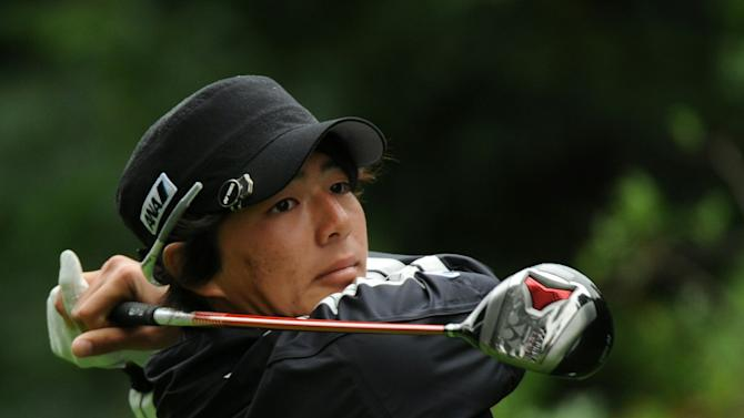 Teen star Ryo Ishikawa of Japan tees off