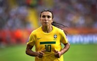 Brazil's striker Marta, pictured during the 2011 World Cup, will spearhead Brazil's bid for their first women's football title at the London Olympics this summer