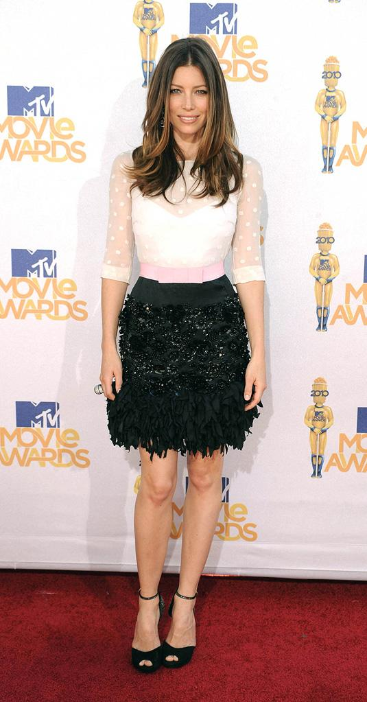 Fashion Report Card MTV Movie Awards 2010 Jessica Biel