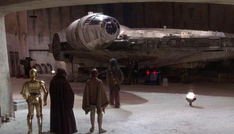 Has the Millennium Falcon already been built for Star Wars: Episode VII?