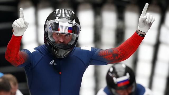 Bobsleigh - Russian leads two-man bob, Jamaica last