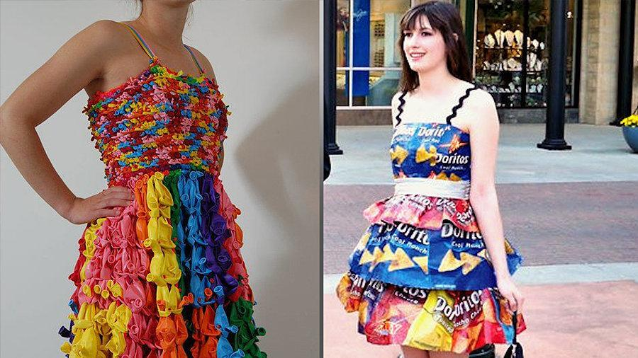 12 Prom Dresses Made Out of the Most Unbelievable Sh*t