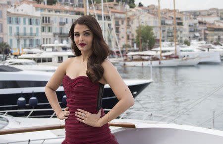 "Actress Aishwarya Rai Bachchan poses during a photocall for the film ""Jazbaa"" at the 68th Cannes Film Festival in Cannes"