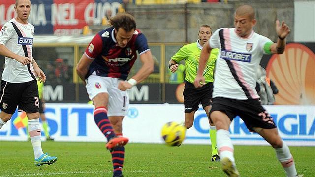 Serie A - Four sent off as Bologna beat Palermo