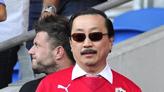 Cardiff City owner Vincent Tan in the stands (PA Photos)