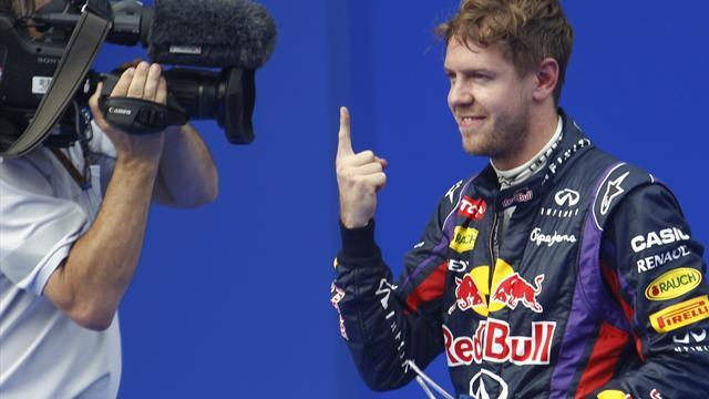 Malaysian Grand Prix - Vettel storms to pole after showers in Sepang