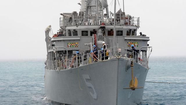 Navy Ship Runs Aground in Philippines