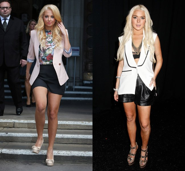 Tulisa Contostavlos Dyes Her Hair Blonde! Has She Copied Lindsay Lohan's Court-Over?