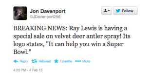 Post Super Bowl Social Media Analysis Looks at Ray Lewis' Legacy image Screen Shot 2013 02 05 at 2.23.41 PM