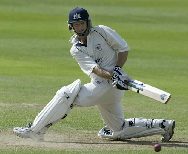 Gloucestershire batsman Jonty Rhodes cuts the ball for more runs