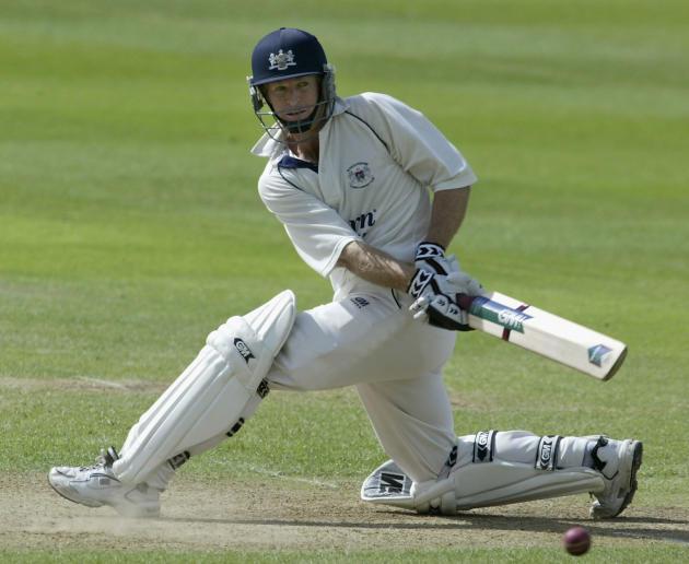 Gloucestershire batsman Jonty Rhodes cuts the ball for more runs