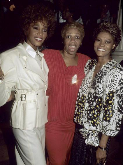 Whitney Houston, Cissy Houston and Dionne Warwick in 1987. (Photo by Larry Busacca/WireImage)