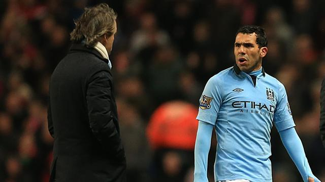 FA Cup - Mancini: I hope the police arrest Tevez every day
