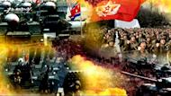 "A scene from the four-minute video titled ""A Short, Three-Day War"", shown in an image grab taken on March 22, 2013 from North Korea's official website, Uriminzokkiri.com"
