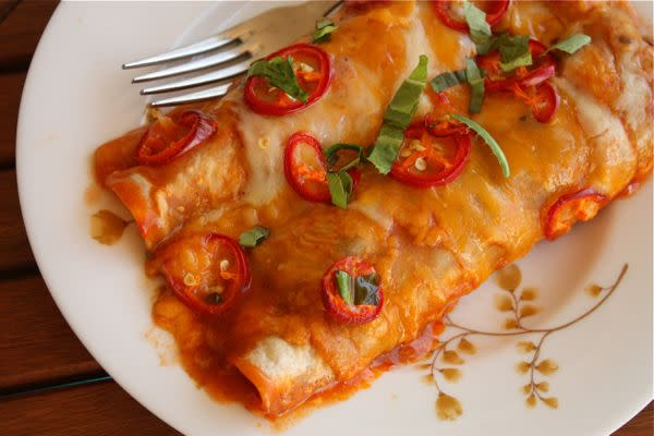 Black Bean and Pepper Enchiladas