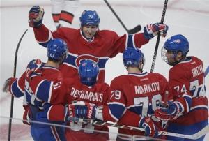 Desharnais, Cole lead Canadiens over Senators 2-1