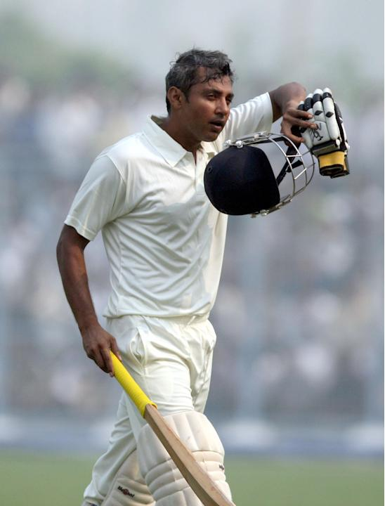 Former Indian cricketer Ajay Jadeja currently playing for Haryana Ranji team during Ranji Trophy match against Mumbai in Lahli, Rohtak on Oct.27, 2013. (Photo: IANS)