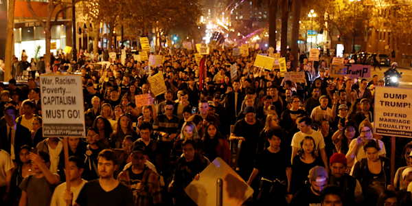 Protests against Donald Trump break out nationwide - Yahoo ...