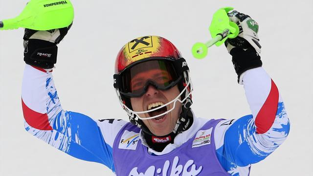 Alpine Skiing - Hirscher picks up 20th World Cup win in Val D'Isere