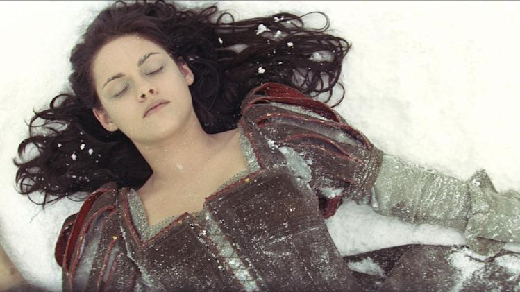 "This film image released by Universal Pictures shows actress Kristen Stewart in a scene from ""Snow White and the Huntsman."" (AP Photo/Universal Pictures)"