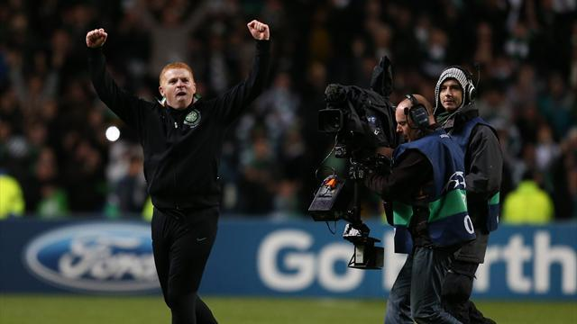 Champions League - Lennon salutes Celtic 'heroes' after beating Barcelona