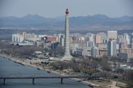 A general view of Pyongyang on April 11, 2012. A veteran Japanese maestro will conduct Beethoven's Ninth Symphony in North Korea, his spokesman said Tuesday, in a rare cultural exchange amid lingering mutual suspicion between the two nations