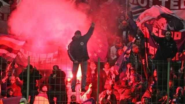 Serie A - Fans protest against Sampdoria