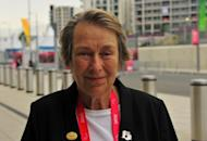 Eva Loeffler, Mayor of the Paralympic Village, pictured outside the Olympic Park in east London. When Loeffler volunteered as a ball girl during a rudimentary wheelchair sports tournament for World War II veterans in 1948, she had no idea the contest would grow into the Paralympic Games