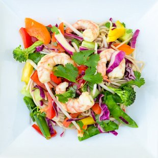 Asian Shrimp Soba Noodles With Vegetables