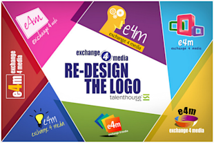 Exchange4media Crowdsources For A New Logo image Exchange4media Talenthouse logo redesign