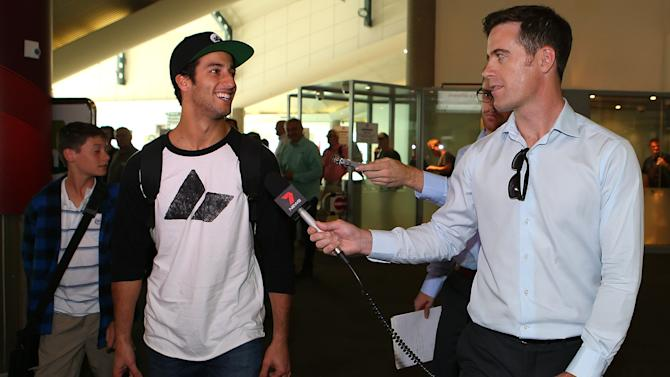 Daniel Ricciardo Returns To Perth Following Australian F1 Grand Prix