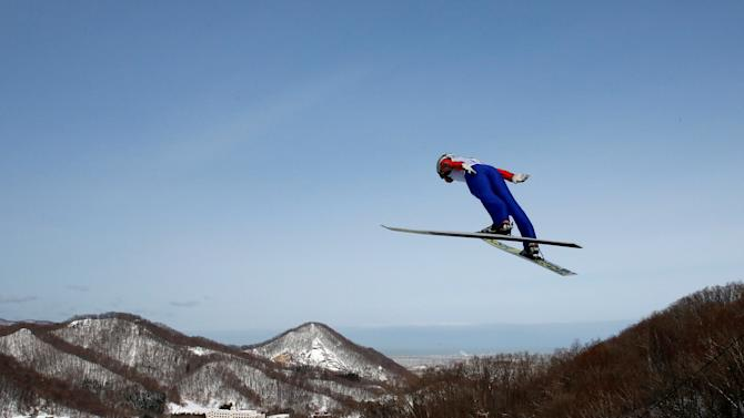 Ski Jumping - Men's Normal Hill - Asian Winter Games - Miyanomori Ski Jump Stadium