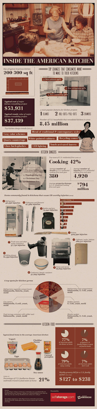 A Look Inside the American Kitchen [Infographic] image kitchen infographic3