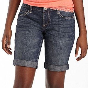 Arizona Juniors Denim Cuffed Shorts
