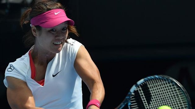 China's Li Na in second round action at the Australian Open (AFP)