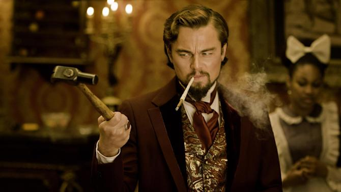 "FILE - This undated publicity file image released by The Weinstein Company shows Leonardo DiCaprio as Calvin Candle in ""Django Unchained,"" directed by Quentin Tarantino. Chinese theaters pulled ""Django Unchained"" at the last minute, despite widespread reports that Tarantino had bowed to censors' demands by dampening the film's violence. China said only that the film's screening had been halted for ""technical reasons"" without elaborating what that meant. (AP Photo/The Weinstein Company, Andrew Cooper, SMPSP, File)"