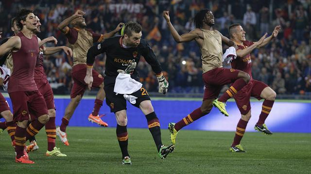 Serie A - Roma brush Milan aside to keep title hopes alive