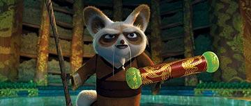 Shifu (voiced by Dustin Hoffman ) in DreamWorks Animation's Kung Fu Panda