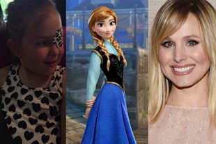 Kristen Bell as 'Frozen's' Anna leaves sweet voicemail for six-year-old with brain tumour.