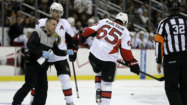 Ice Hockey - Senators' Karlsson out for season after Achilles surgery