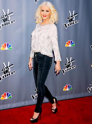 Christina Aguilera Looks Skinnier Than Ever at Voice Event, Has Awkward Moment About Her Boobs With Carson Daly