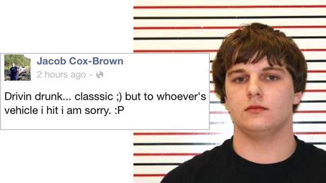 Oregon Teen Arrested After Posting 'Drivin Drunk' Facebook Status