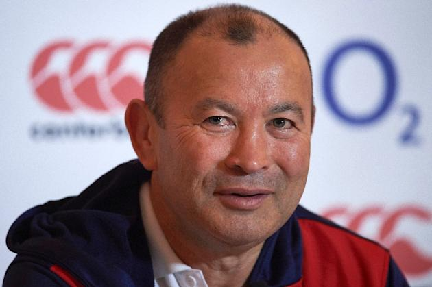 England's Australian rugby union head coach, Eddie Jones speaks during a press conference in Bagshot, south west of London on March 20, 2016