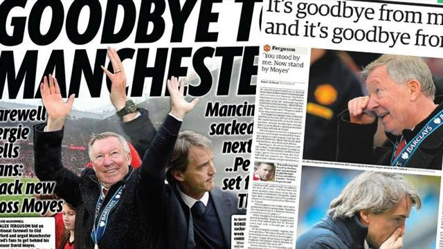 Premier League - Paper Round: Mancini to join Ferguson in leaving Manchester
