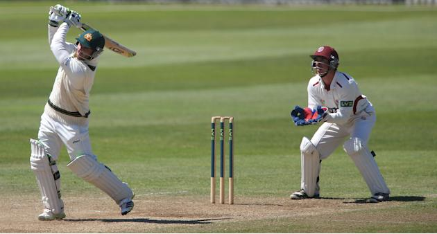 Cricket - International Tour Match - Somerset v Australia XI - Day Four - The County Ground