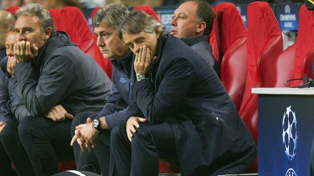 Champions League - Mancini: Blame me for latest night of European woe